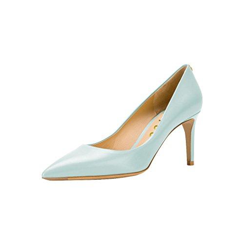 Fsj Donna Basic Chiuso Punta A Punta Décolleté Slip Slip On Formal Office Lady Dress Shoes Taglia 4-15 Us Light Blue