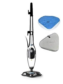 Aqua Laser ® Gold 2 in 1 Dampfreiniger und Handdampfer Dampfbesen Kombigerät Bodendampfreinigungsgerät (Weiß/Grün)