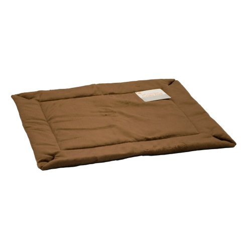 K&H Manufacturing Self-Warming Crate Pad Mocha 14-Inch by 22-Inch