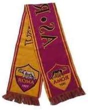 Bufanda oficial del club de fútbol a.S.ROMA a.S.ROMA Bufanda ROMA diseño de italia: Amazon.es: Deportes y aire libre