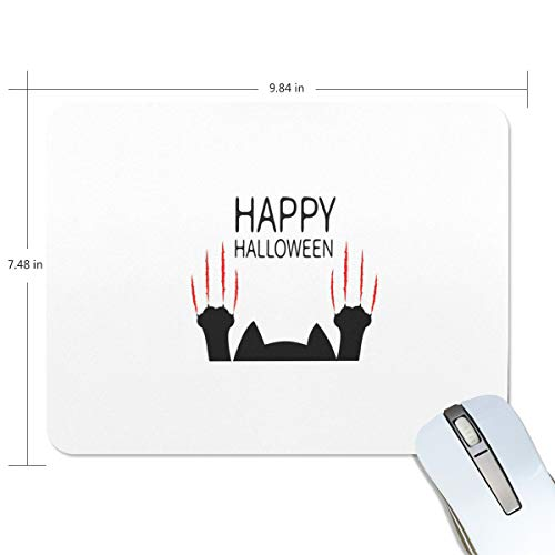 Non Slip Mouse Pad for Office, Computer, Laptop & Mac Mouse Mat Happy Halloween Black Cat Paw Wrist Rests Waterproof Mousepads]()