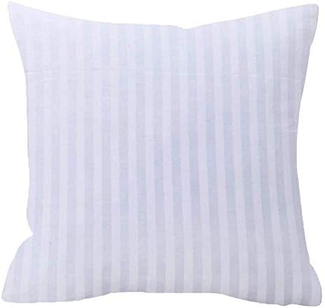 NIDITW Soft and Comfortable Polyester Fiber Filling White Waist Lumbar Throw Pillow Inserts Home Sofa Couch Decor Square 18×18 inches
