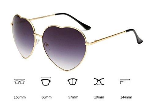 Lens forme Lunettes polarisé Huateng Gradient en soleil de Classique de Glasses coeur Brown rétro w0RqITqFP