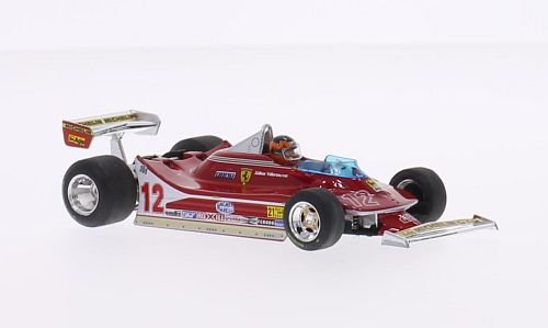 Ferrari 312 T4, No.12, scuderia Ferrari, formula 1, GP USA West, 1979, Model Car, Ready-made, Brumm - Scuderia West
