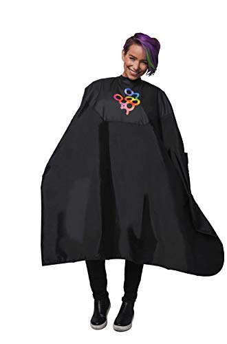 Framar Color Cover Salon Cape - Hair Cape with Snap Closure and Rubberized Chest, For Hair Dye, Hair Color, Cosmetology Supplies and Hair Coloring - Hair Cutting Cape