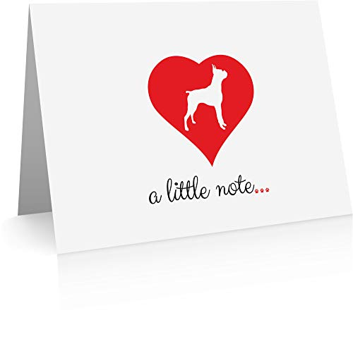 Boxer Note Cards (24 Fold-over Cards and Envelopes) Dog Breed Notecards Boxer Dog Note Card