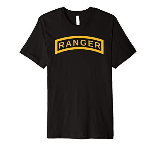 US Army Vintage Airborne Ranger Tab Veteran Soldier Shirt