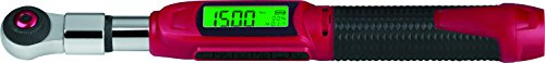 """ACDelco Tools 1/4"""" (Inch) Ultra-Compact INTERCHANGEABLE Digital Torque Wrench, Measures 1.845-22.12 ft-lbs. Range of Torque, 10-1/16"""" Length, LCD Display, Audible Notification Buzzer, LED Light ARM331"""