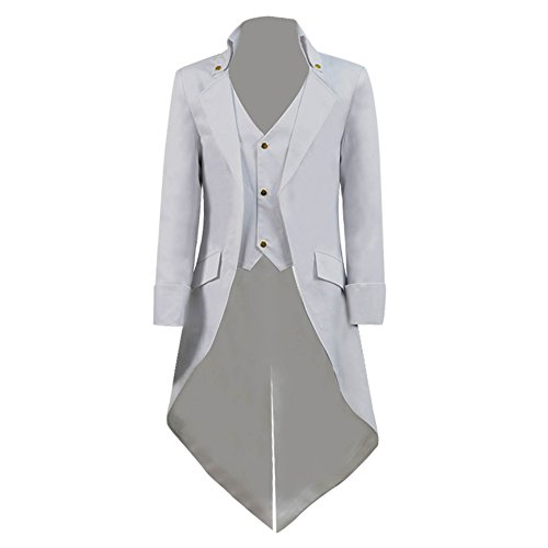 2956d87dc898 COSSKY Boys Gothic Tailcoat Jacket Steampunk Long Coat Halloween Costume -  Buy Online in UAE.