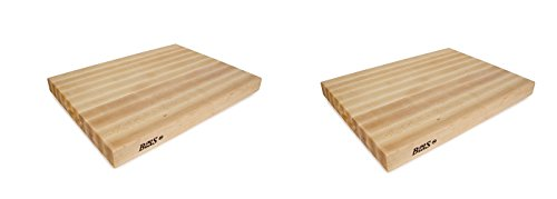 John Boos RA03 Maple Wood Edge Grain Reversible Cutting Board, 24 Inches x 18 Inches x 2.25 Inches (Pack of 2) by John Boos