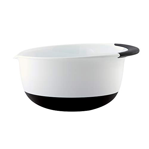 OXO Good Grips 1-1/2-Quart Mixing Bowl, White/Black