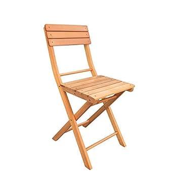 Havnyt - Juego de 2 sillas de jardín Plegables de Madera de ...