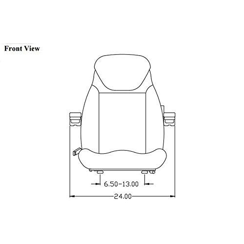 Seat Assembly for John Deere Loader Backhoe 210C 300D 310C 310D 410B 410C 410D