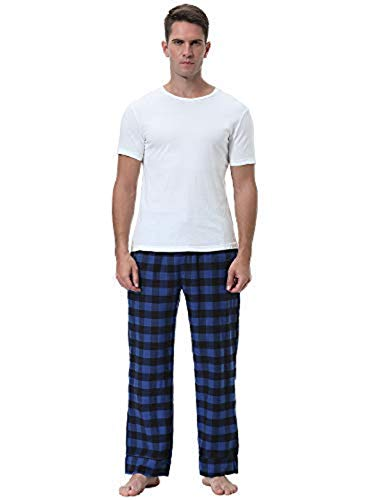 Abollria Notte Sportivi Cotone Per Blu Sport Pantaloni Lunghi In Casa Pigiama Da Uomo Navy rBf0xr