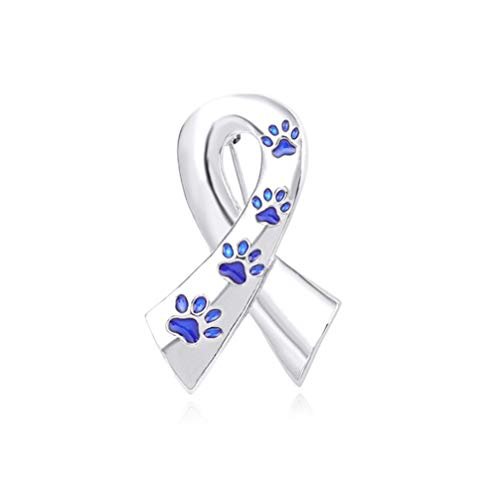 Myhouse Ribbon Dog Claw Pattern Brooch Alloy Drop Glaze Pin Badge Collectable Gift for Clothes Tie Hats Caps Bags Backpacks,Blue (Brooch Claw)