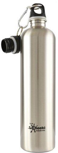 Cheeki 1 Liter 34-ounce Stainless Steel Water Bottle - Silver