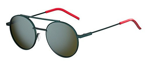 (New Fendi AIR FF 0221/S 1ED/3U Green/Khaki Blue Sunglasses)