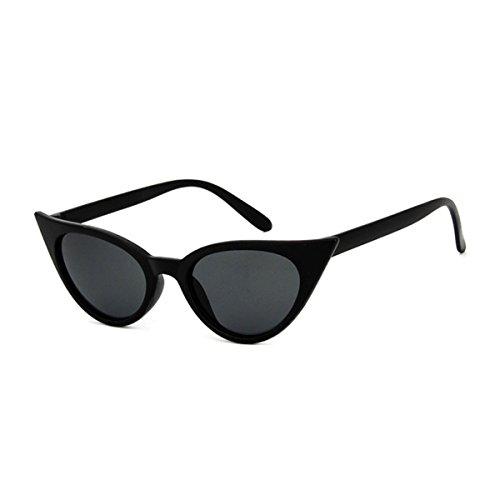 Mujer Grueso Estilo Catado Gafas Retro De Para De negro Marco mate Sol ECYC® Gafas Polarizadas A03 Sol q1p00XwR