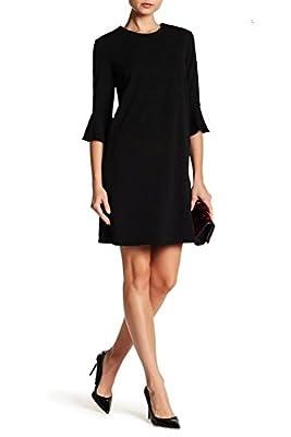 ABS COLLECTION Womens Dress Ruffle-Sleeve Shift Dress