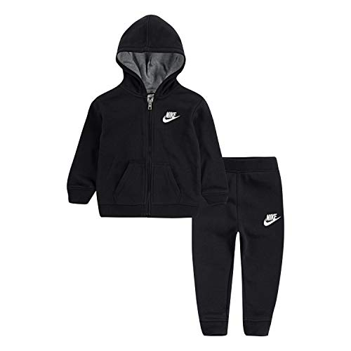 NIKE Children's Apparel Baby Boys Hoodie and Joggers 2-Piece Outfit Set, 24M, Black]()
