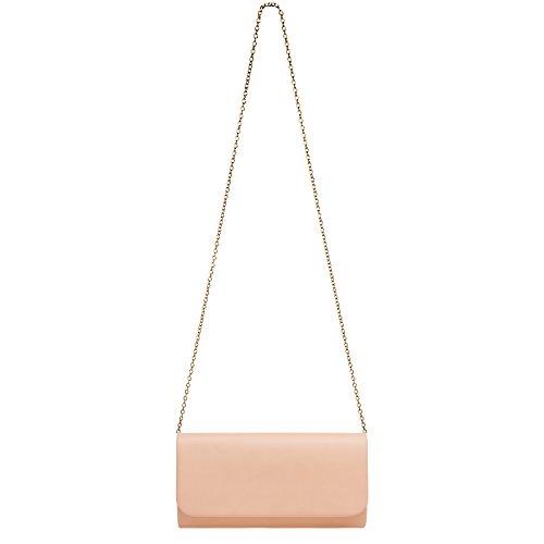 Elegant CASPAR TA404 Bag Baguette Clutch Ladies Evening Pink Style XwXqRSdxr