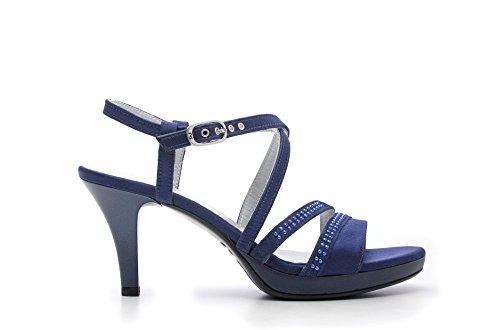 Nero Giardini Sandalo Tacco Alto Donna Pelle Articolo P615810DE 208 Marine P6 15810 DE