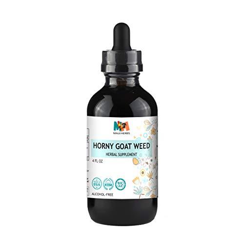 (Horny Goat Weed Tincture Alcohol-Free Liquid Extract, Organic Horny Goat Weed Leaf (Epimedium Grandiflorum, Barrenwort) (4 FL OZ))
