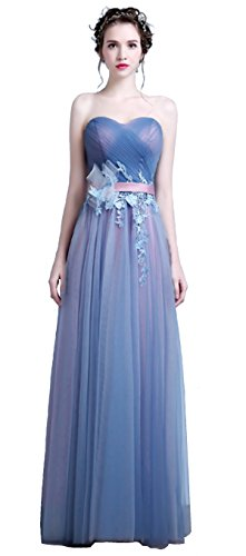 Cohaco Women's Sweetheart Princess Dress Appliques Organza Party Gown with Gloves (US 6, (Organza Sweetheart Floor)