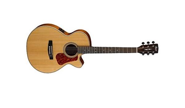 Cort Luce 100 F eléctrico de guitarra acústica Natural satén ...