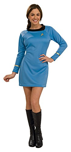 Tv Star Fancy Dress Costumes (Rubie's Costume  Star Trek Classic Deluxe Blue Dress, Adult Small)