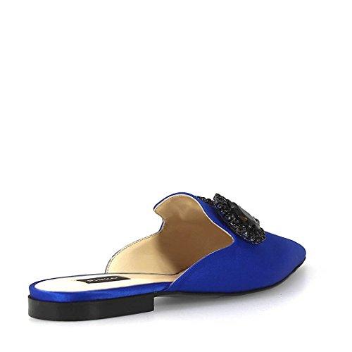 Mocassins Cuir 1H20FBY4E5F71 Bleu Femme Pinko pCq8Ua