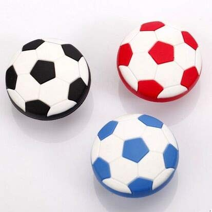 Furniture Handles, 10Pcs Kids Dresser Drawer Knobs Pulls Handles Football Soccer Black Blue White Red Baby Boys Childrens Cabinet Silicon Knob Home Pull by BIG-DEAL