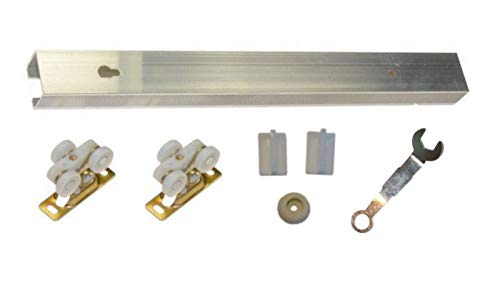 Series 4- Light Duty Pocket Door Track & Hardware Kit- for Doors up to 80 lbs (24
