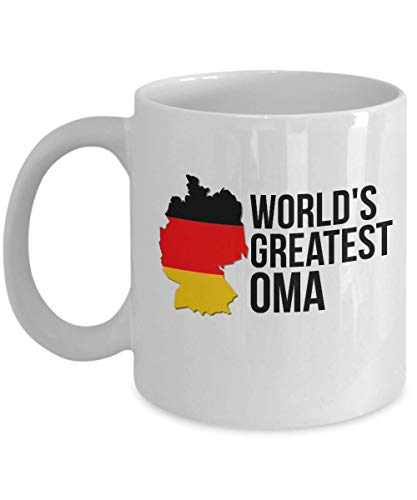 Germany Coffee Mug - Novelty Oma German Flag Cup For Women - Best Birthday & Christmas Gift For Grandmothers With Deutsche Heritage Pride - Deutschland Tea Lover Accessories