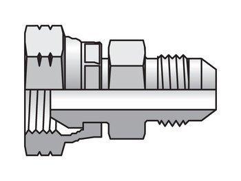 Stl Swivel - Parker 8XHMK46S Straight Swivel Adapter 1/2 JIC Male X 1/2 BSPP Swivel Stl