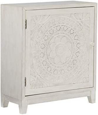 Powell Furniture Grace, Antique White Cabinet,