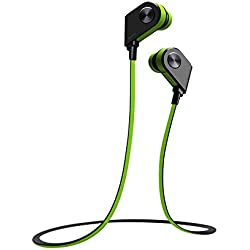 Wireless In Ear Bluetooth Headset V4.1 with Mic, KOBWA Smart Magnetic Bluetooth Earbuds Sports Stereo Headphone for Running With Bass Sound, Secure Fit, APTX CVC 6.0 Noise Cancelling And IPX4 Sweatproof