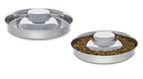 Stainless Steel Multi Puppy Litter Feeder Dish Bowl - Choose Size (11 Inch - 50oz) - Litter Dish