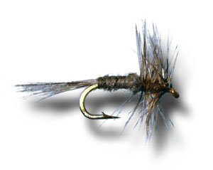 Midge Dry Fly (Midge Dry Grizzly Fly Fishing Fly - Size 22 - 6 Pack)