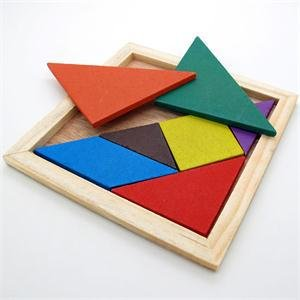 Marketworldcup-Quality Children Mental Development Tangram Wooden Jigsaw Puzzle Educational Toys for Kids
