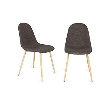 IMPT-HOME-DESIGN - Pack 4 sillas tapizadas en Gris Modelo Córdoba