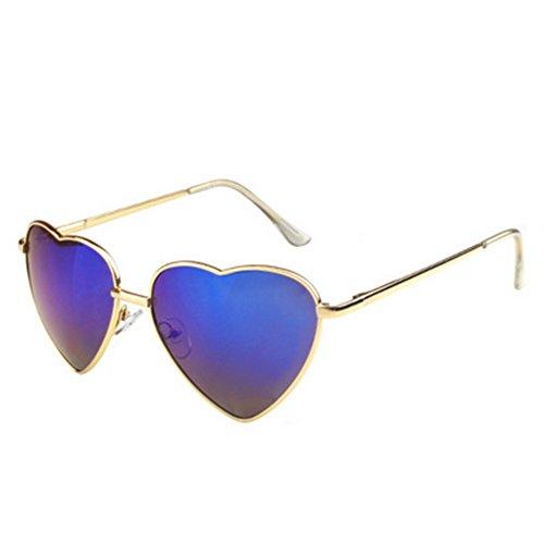 MosierBizne Womens Spring Fashion Heart-Shaped Mirror Leg Sunglasses Glasses Anti-luster - Reviews Salt Sunglasses