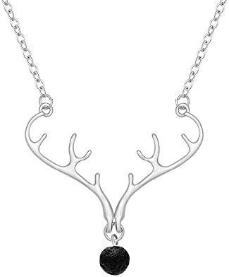 Senfai Christmas Element Deer Antler Plus Black Lava Rock Volcano