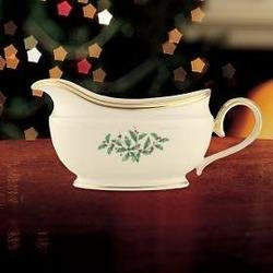 Stkertools(TM) Lenox Holiday Sauce Boat and Stand - 836619 by Stkertools (Image #1)