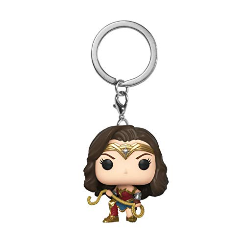 Funko Pop! Llavero Wonder Woman 1984 - Wonder Woman with Lasso, Multicolor, Modelo 46