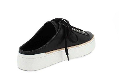 M4d3 Femmes Diapositive Mule Sneaker Noir Doux Veau