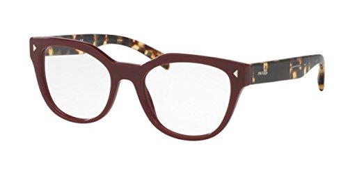 Prada PR21SV Eyeglass Frames USH1O1-51 - Bordeaux PR21SV-USH1O1-51