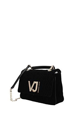 Jeans bandolera Versace Mujer E1VSBBI570783 Bolsos Negro con Poliéster tq44Rwd