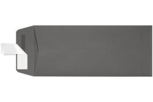 #10 Open End Envelopes w/Peel & Press (4 1/8 x 9 1/2) - Smoke Gray (50 Qty.) | Perfect for Small Business Use and Invitations