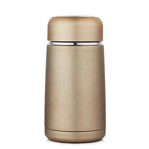 443135c660a JIAQI Mini Water Bottle BPA Free, 10 oz Stainless Steel Travel Coffee Mug  with Tea